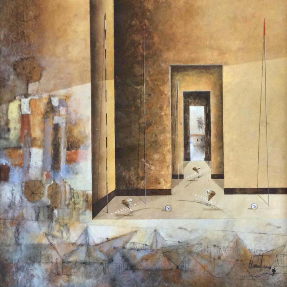 D-Gallerie_Jose Cordova _  El Camino de Verano_ 20_x20__Acrylic on Canvas_ 2018_$550.jpg