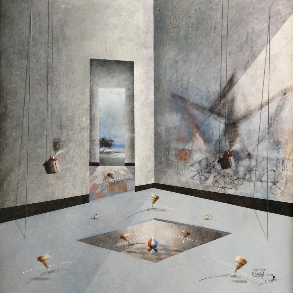 D-Gallerie_Jose Cordova _  Lindo Sueño de Pesca_ 20_x20__Acrylic on Canvas_ 2018_$550.jpg