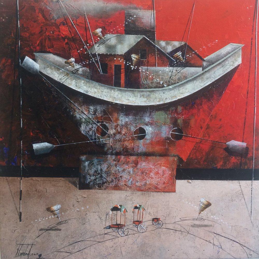 D-Gallerie_Jose Cordova _  Trapiche Rojo_ 20_x20__Acrylic on Canvas_ 2017_$550.jpg