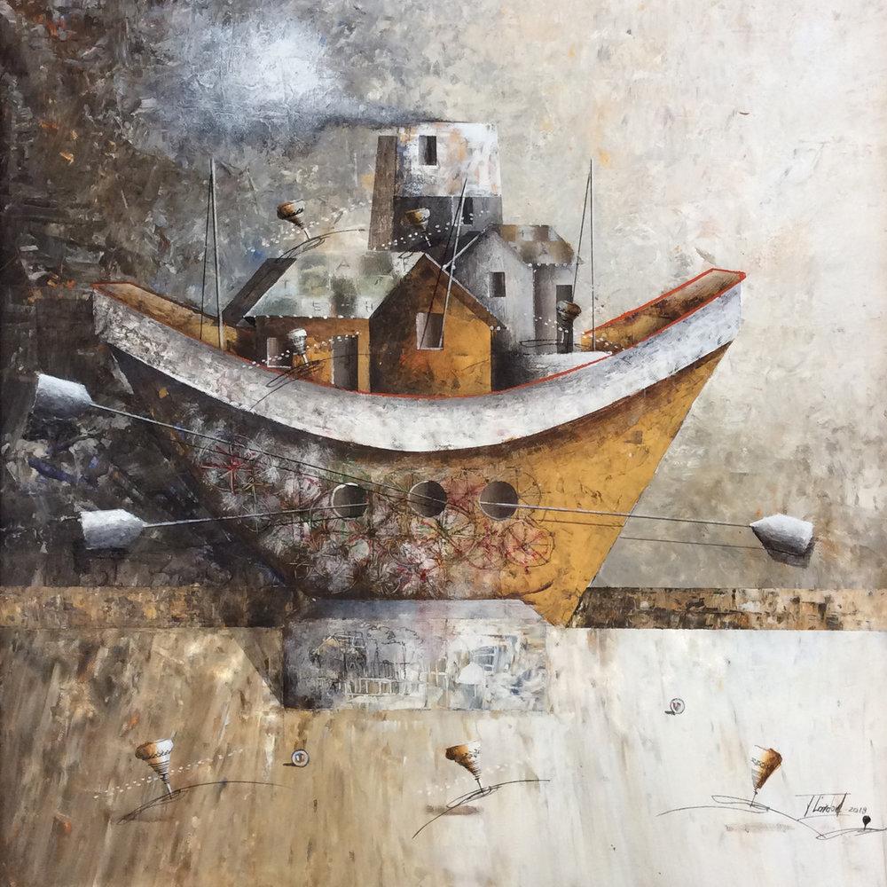 D-Gallerie_Jose Cordova _ Peñero de Noé_ 20_x20__Acrylic on Canvas_ 2018_$550.jpg