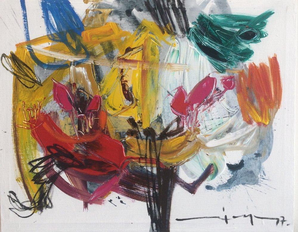 D-Gallerie_Ricardo Reyes _ Untiled_ 20_x16__ Acrylic on Canvas_ 2017_$500.jpg