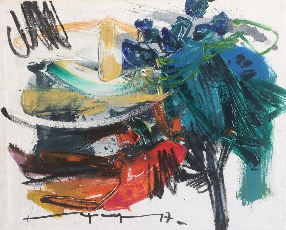 D-Gallerie_Ricardo Reyes _ Untiled(2)_ 20_x16__ Acrylic on Canvas_ 2017_$500.jpg