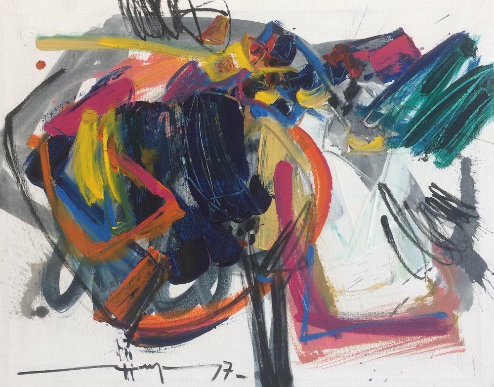 D-Gallerie_Ricardo Reyes _ Untiled(3)_ 20_x16__ Acrylic on Canvas_ 2017_$500.jpg