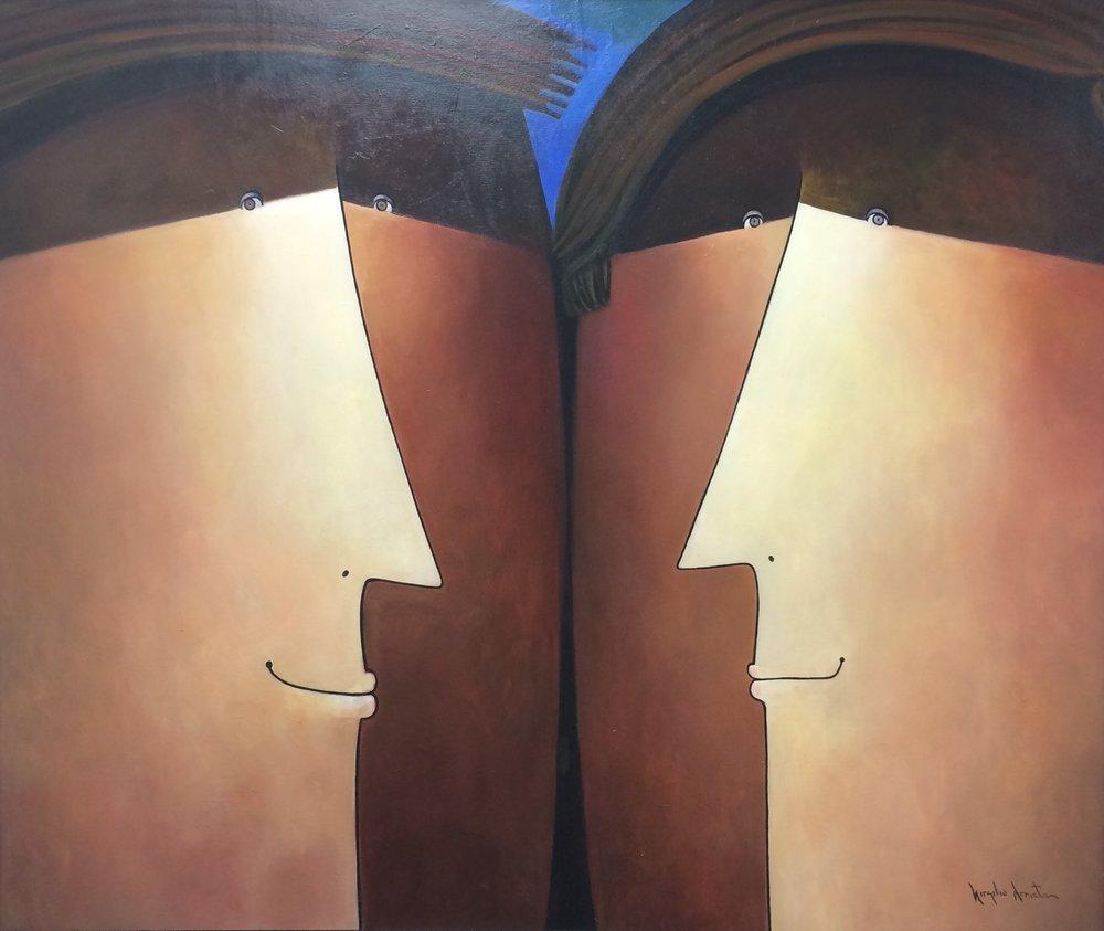 D-Gallerie_Virgilio Arrieta_ Enamoraditos_53_x44__ Oil on Canvas_ 2016_$2,700 .jpg
