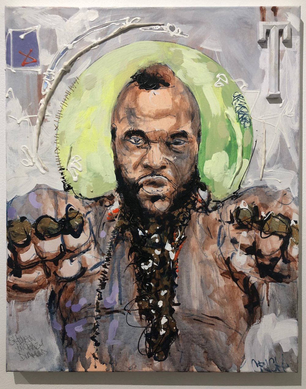 DEEPSPACE-CLARENCERICH-MR.T-20X16-ACRYLIC_GOLDLEAF_STITCHING_COLLAGEONCANVAS-2014-$800.JPG