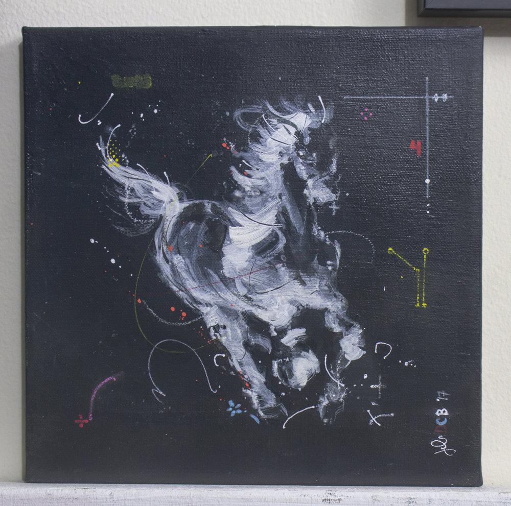 HUE Gallery - Julius Dizon-Cruz Bautista - Horse Study, 10x10 in., Mixed Media on Canvas - $350.jpg