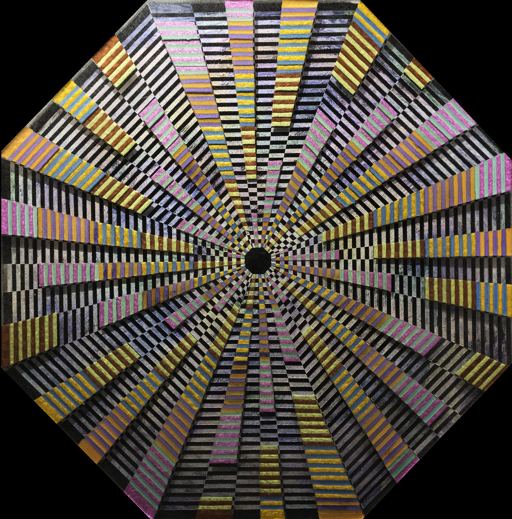 3  Warp Drive_28in diameter octagon_Acrylic Oil Paint and ArtResin_$3500.jpg