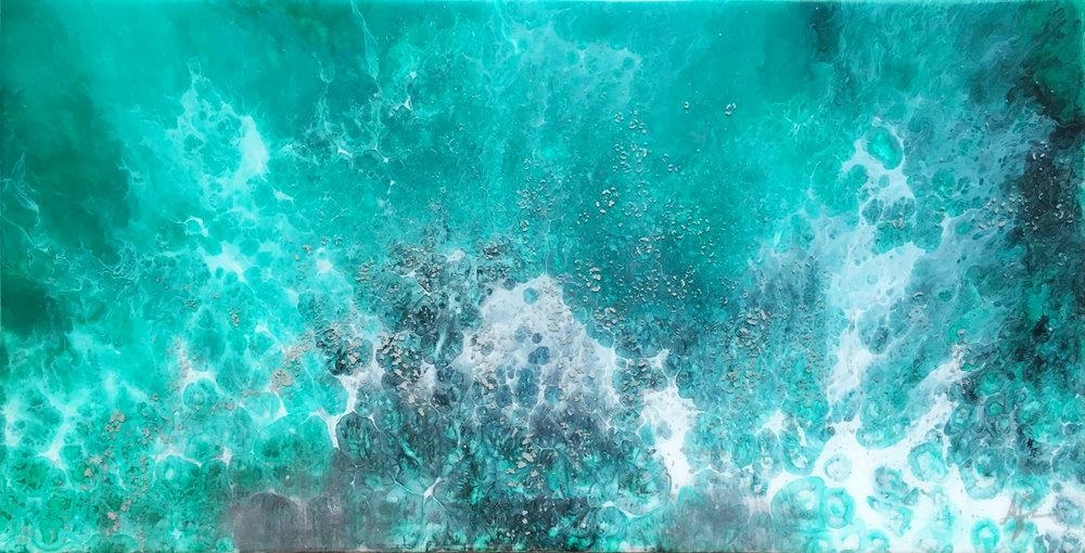 1HUEGallery_AEvans_Sea Foam Paradise_12x24_AcrylicAndResinOnBirchPanel_2017_$975.jpg