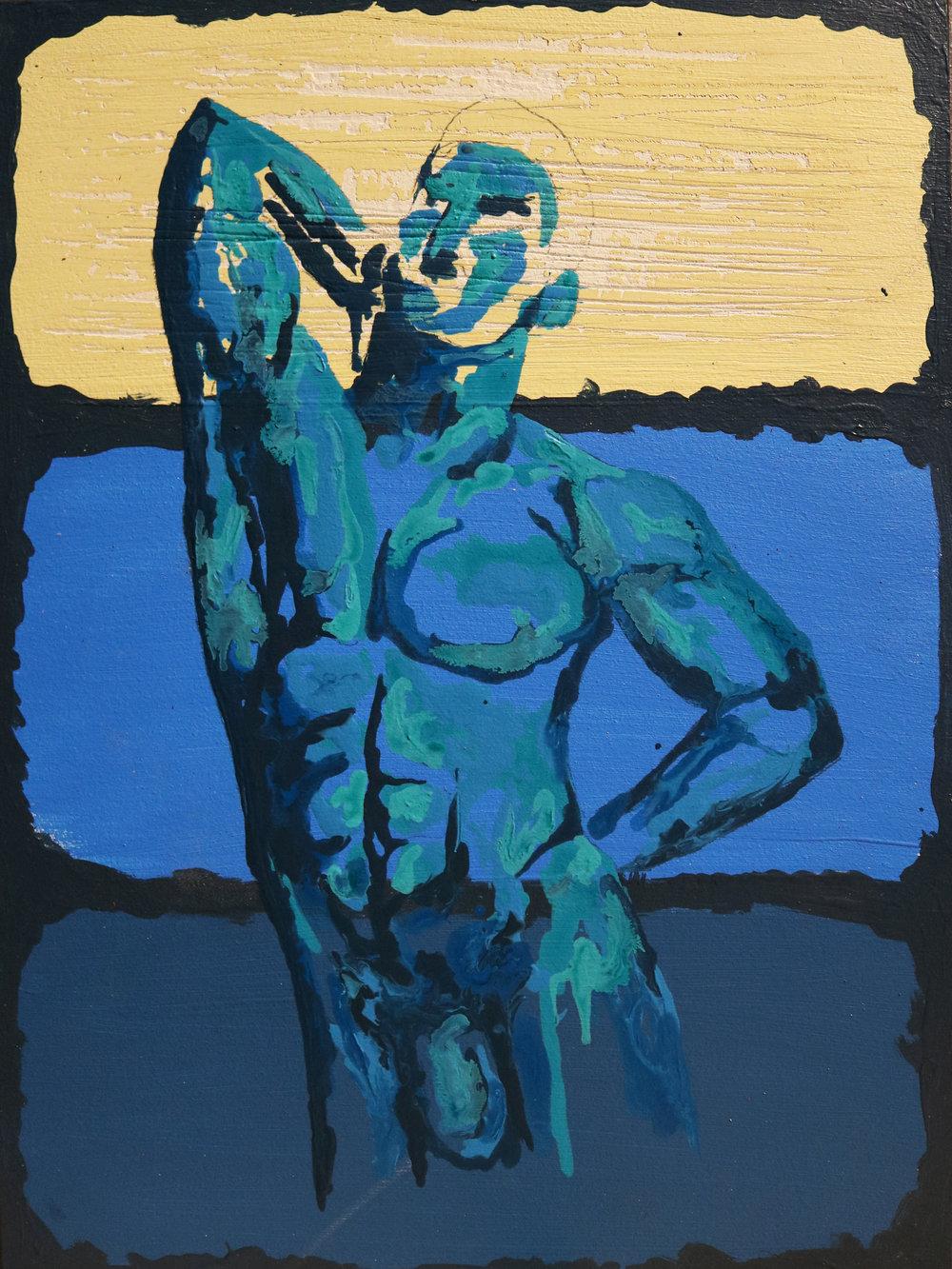 16 - Kuhn - 'Confidence'- 9x12 - 2018 -  Acrylic Ink - $750.jpg