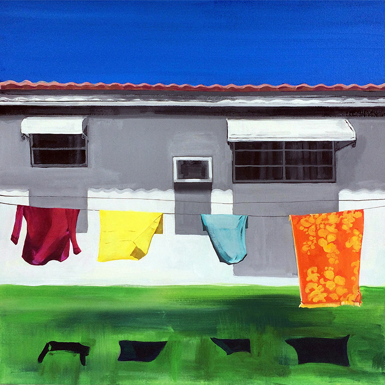 Beautiful, serene suburbia through the lens of one of South Florida's most talented painters, Carmen's works are always crowd favorites at Superfine! fairs and I'm surprised this one is not gone already.