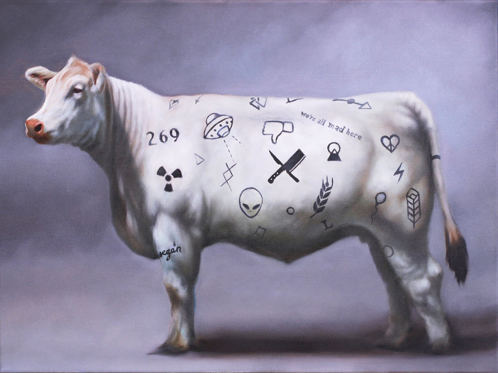 I confess: many of Richard's works could qualify as my favorite, but as I soul search I keep coming back to this bovine. Seldom do you see such detailed oils in the hands of such talented artists at this price, and I think it's an excellent piece.