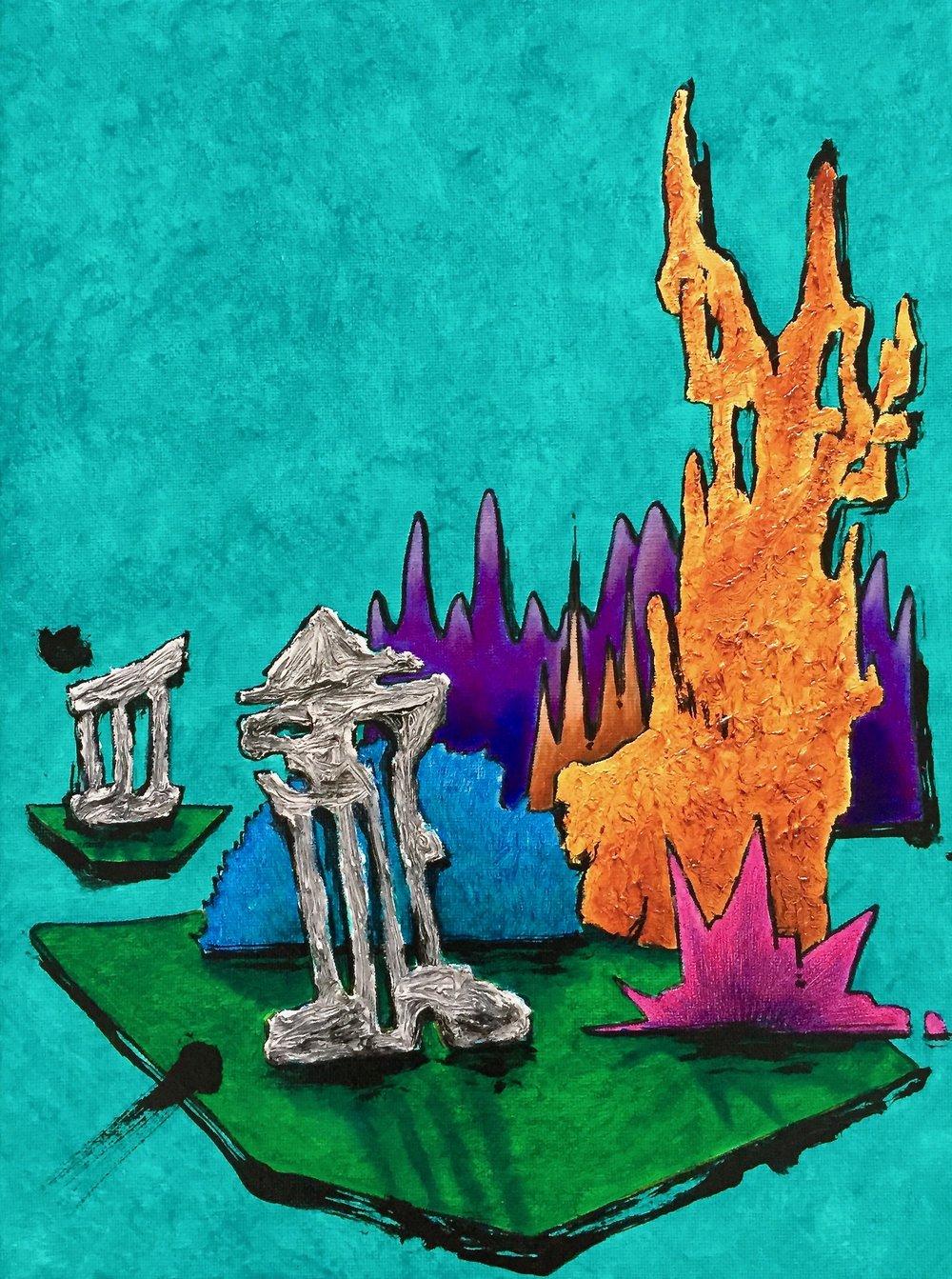 4 Ruins meditation IV. 21x26 inch. 600 doll.jpg