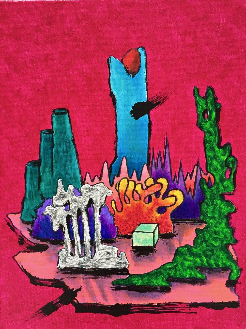 3 Ruins meditation V 1x24 inch  600 doll.jpg