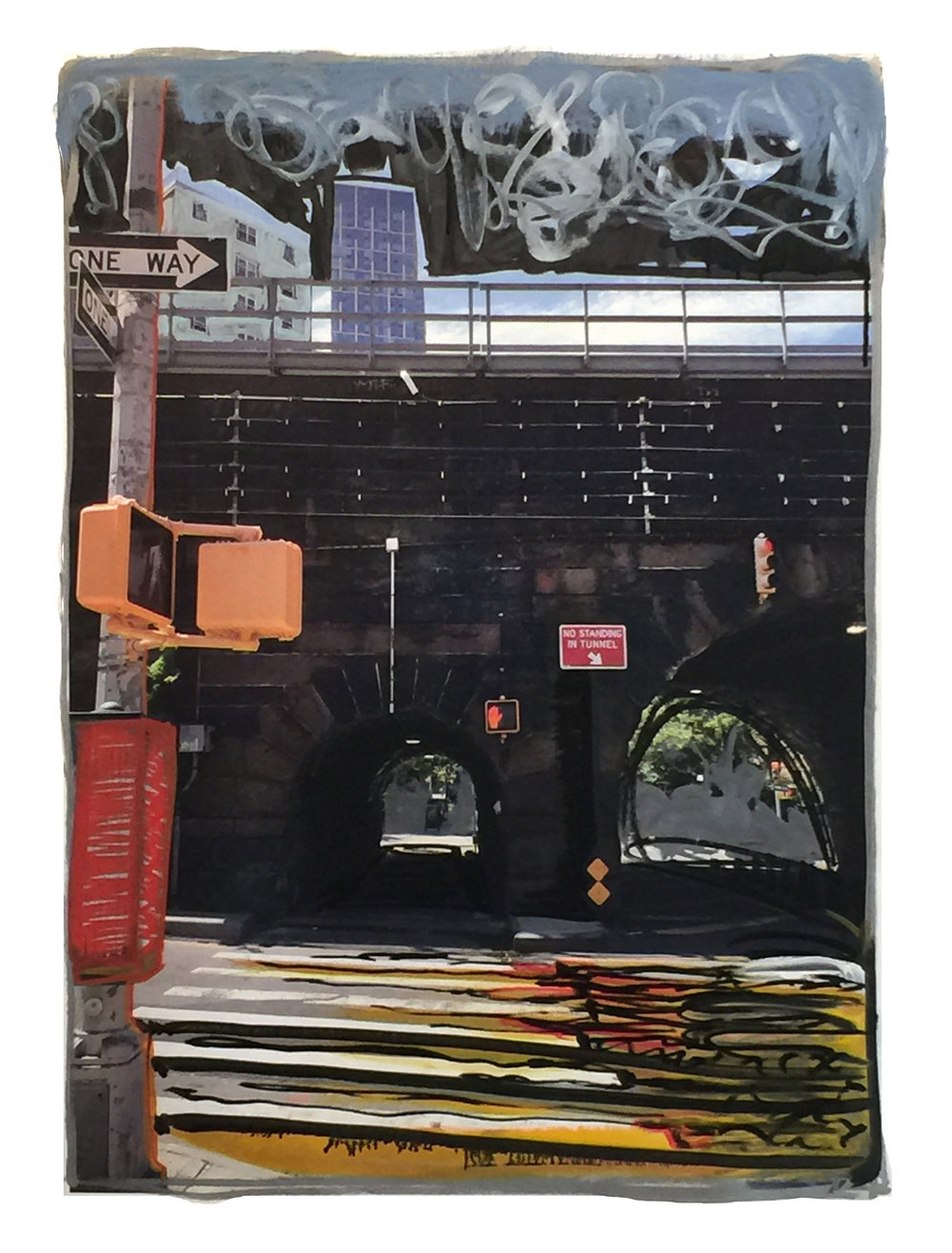"4 Gail Garcia - ""HARLEM_ - 2017 - Mixed Media on Canvas - 30_x40_ - Framed Original - $2200.jpg"
