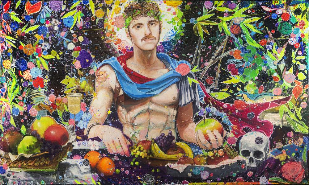 HUE Gallery - Julius Dizon-Cruz Bautista - Boy with Forbidden Fruit, 60x36 in., Mixed Media on Canvas - $10000.jpg