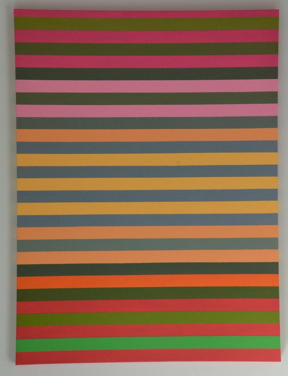 Christine Ruksenas-Burton Linear Equation #6, 30 X 40 Acrylic on canvas, 2018 $1,200.JPG