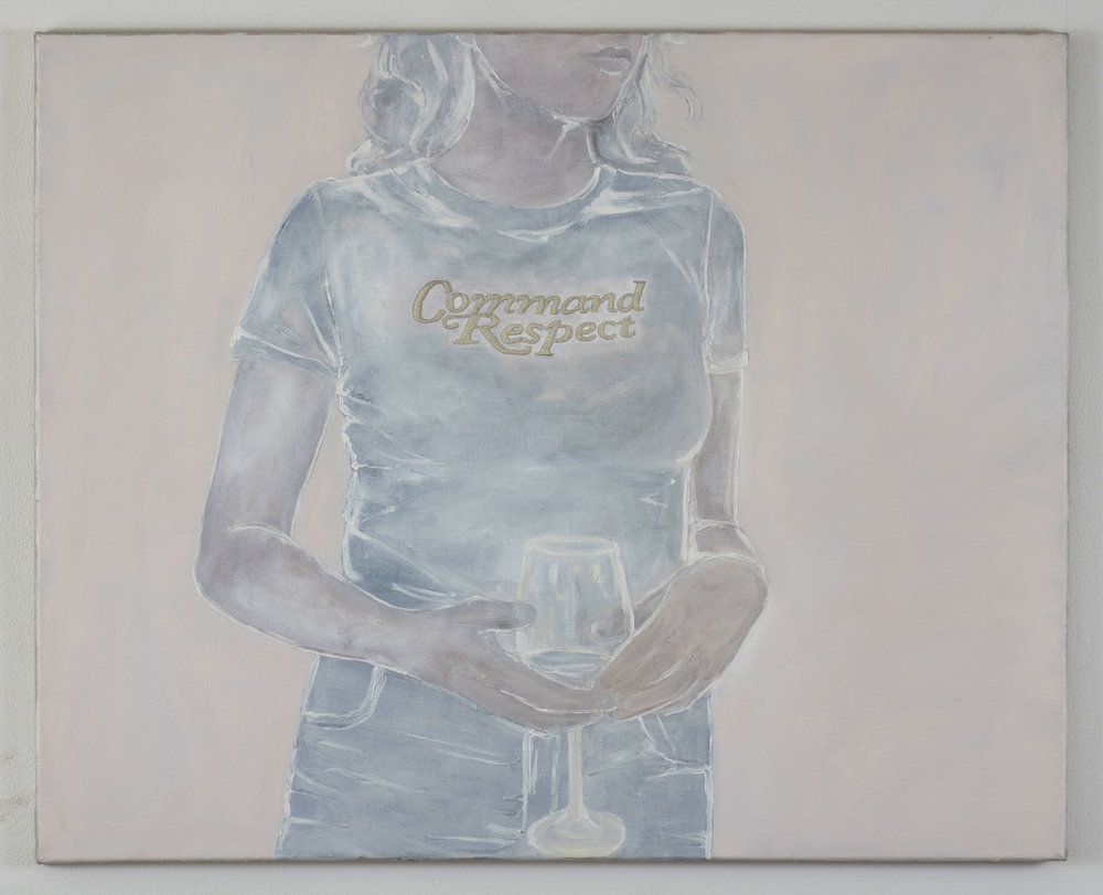 Helen Robinson-_Command Respect_-24x30 inches-Oil and Embroidery Floss on Linen-2017-$2000.JPG