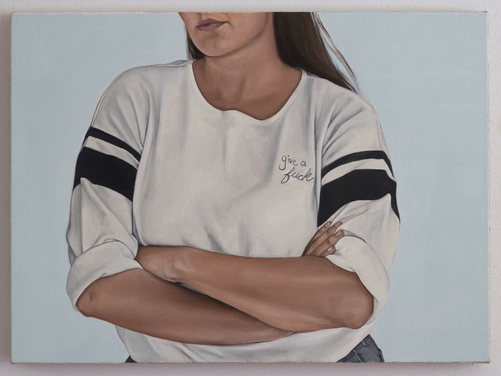 Helen Robinson-_I Do Not Press My Finger Across My Mouth_- 22x30 inches-Oil on Linen-2018-$3700.JPG