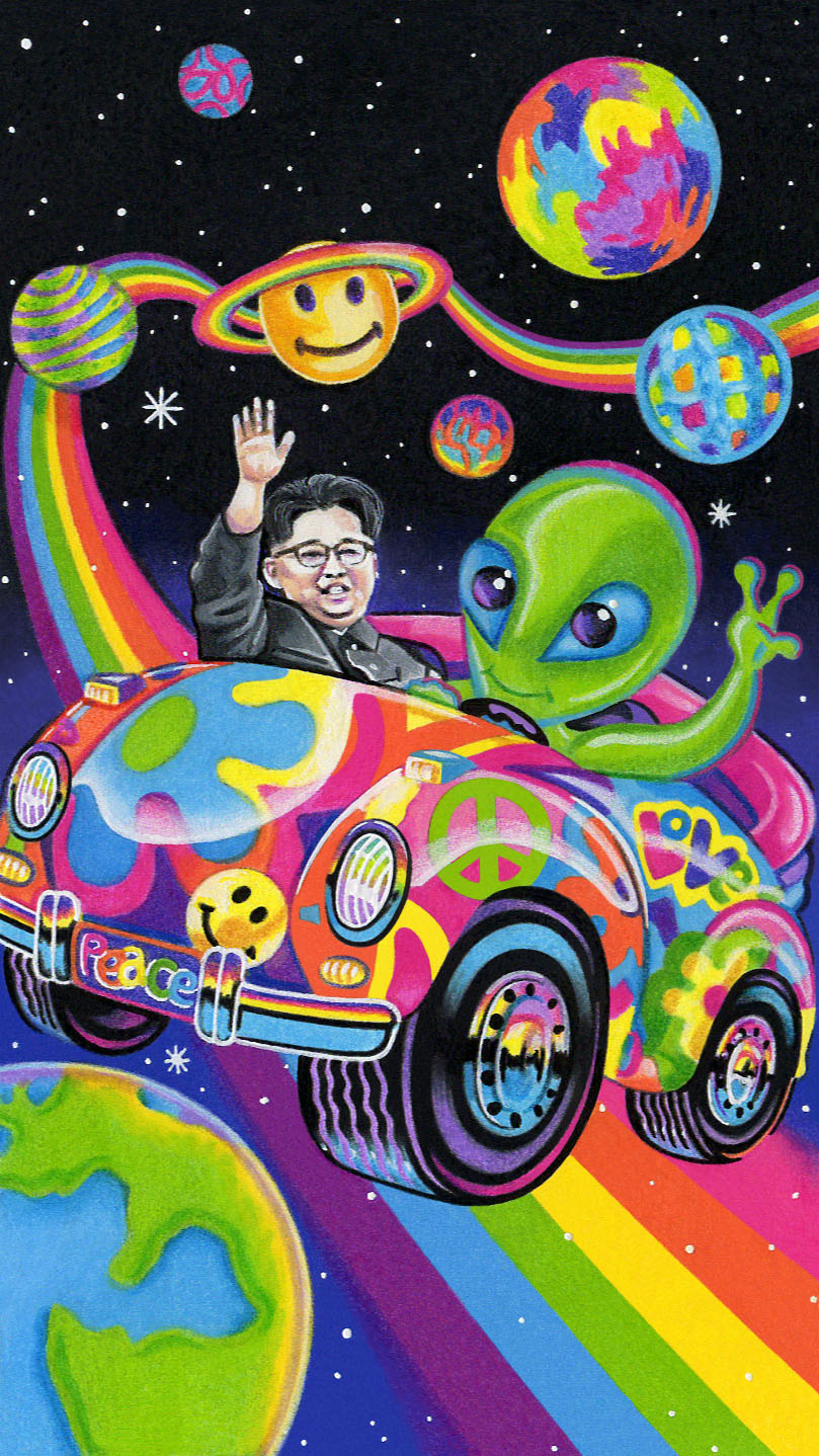 Sarah Jamison - _Rocket Man_ - 2.5_x5_ - colored pencil _ gouache _ marker - 2017 - $975.jpg