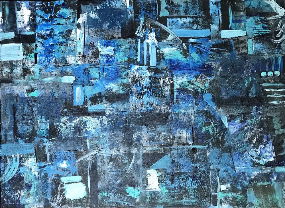 Sbeila Cahill - _Blue Map_- 35 x 45 - acrylic on canvas - 2018 - $1500.jpeg