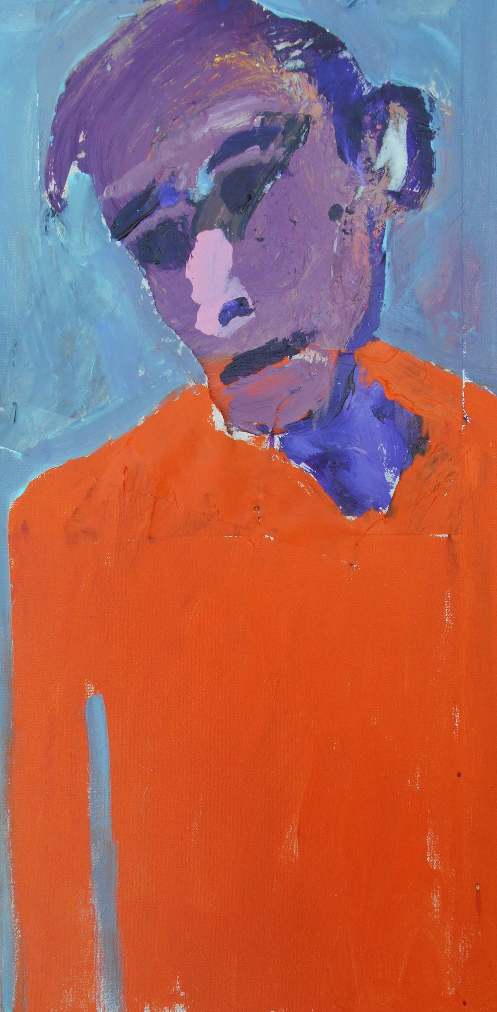 #6 Stephen Perrone - Man in Orange Pullover - 2018 - 24x12 - a on c _ paper - $450.JPG