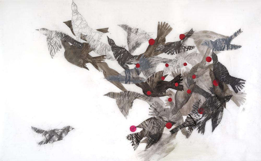 Hostetler_Birds in Formation_2016_graphite on mylar_36x58inches_$2000..jpg