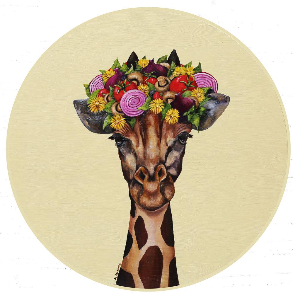 Giraffe with a Pizza Flower Crown.jpg