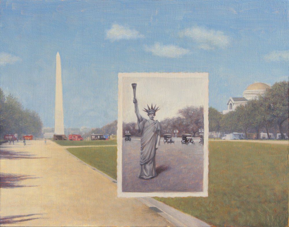 "Liberty Parade 11"" x 14"", Oil on panel $650.jpg"