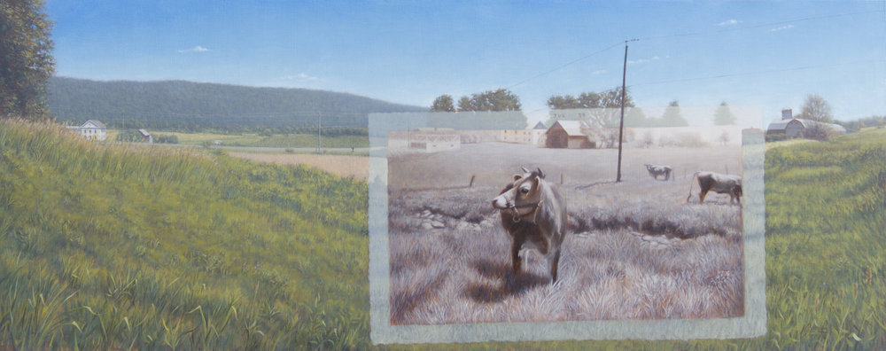 "The Jerseys Field 12"" x 30"", Oil on panel $1800.jpg"