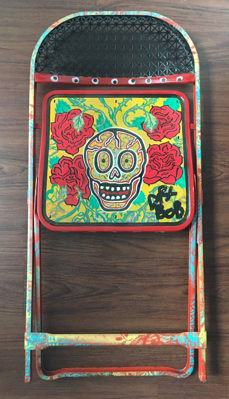 GalleryOonH-Dr Bob-Day of the Dead-2016-Oil on metal chair-35x16-850.jpeg