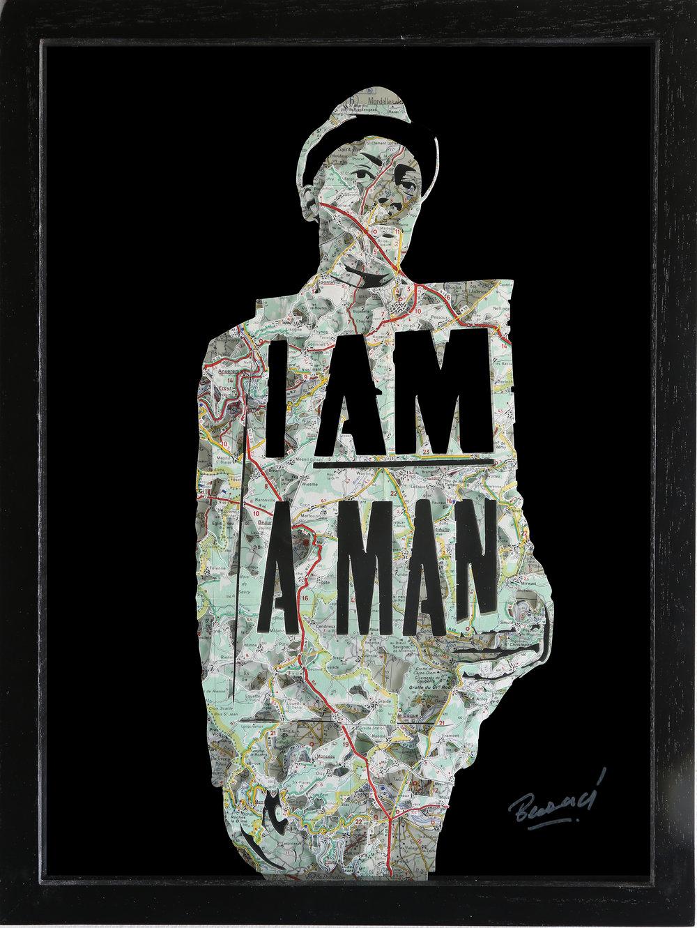 GalleryOonH-Joanathan Bessaci-I Am A Man-2017-Michelin maps and glass-16x12-1100.JPG