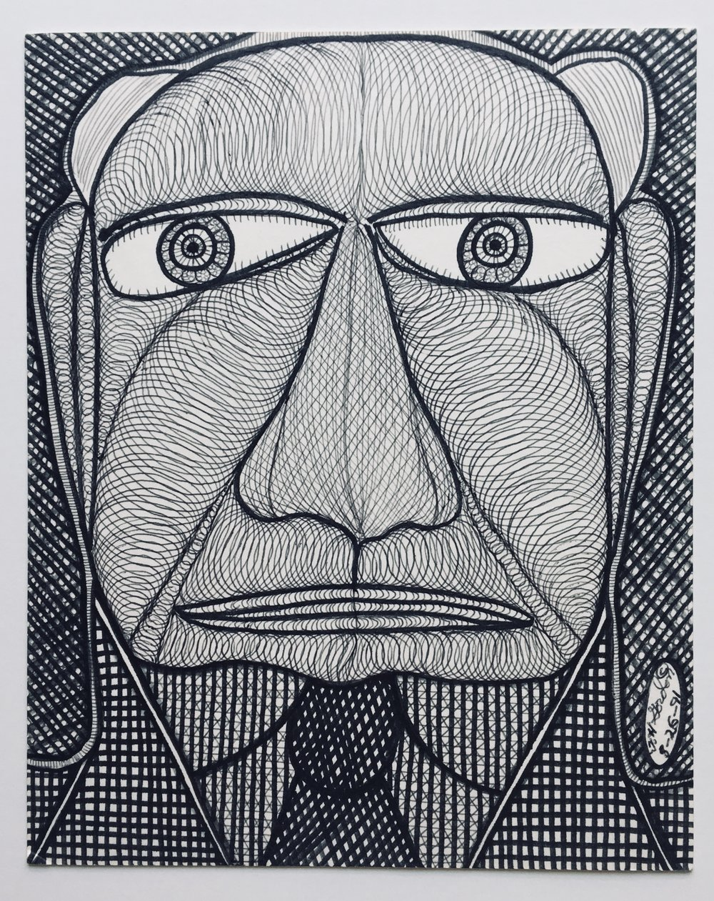 GalleryOonH-Ted Gordon-Founder of the Firm-1991-Pen and marker on posterboard-8x10-850.jpg