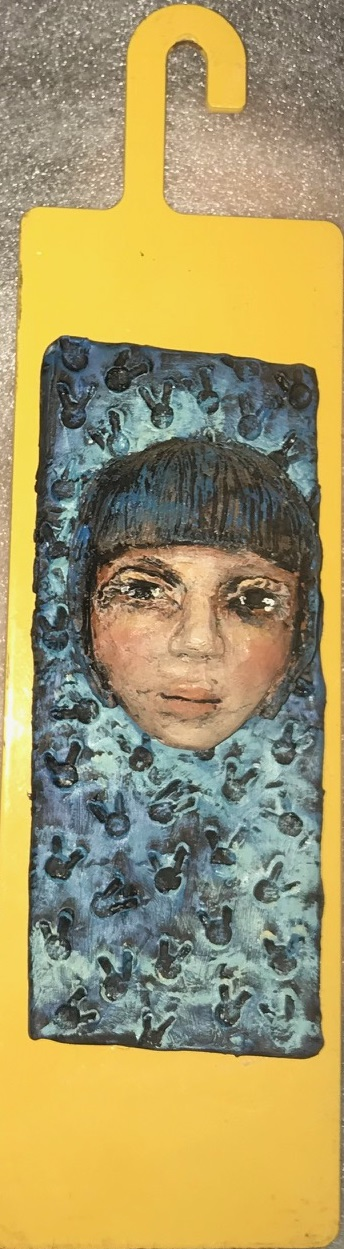 Zenith Gallery-Elissa Farrow-Savos-Blue Moon-2017-found objects and ploymer clay- 11h x 3w x 3d- $150.jpg