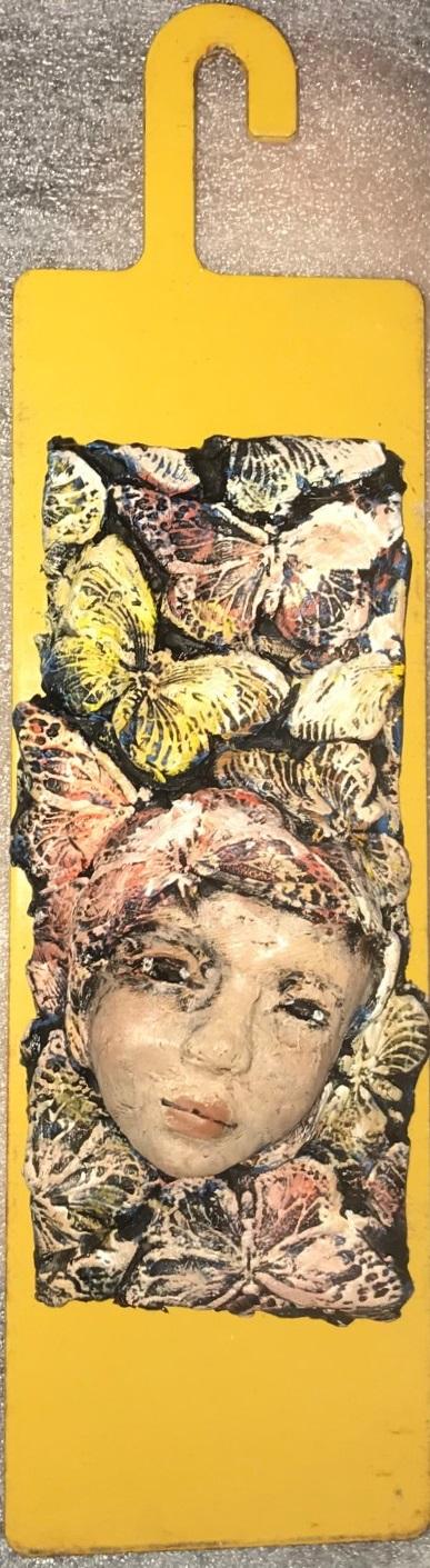 Zenith Gallery-Elissa Farrow-Savos-Butterflies-2017-found objects and ploymer clay- 11h x 3w x 3d- $150.jpg