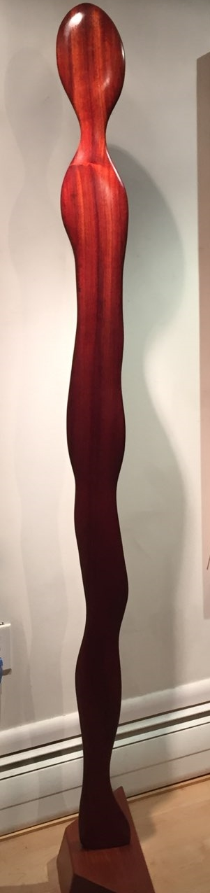 Zenith Gallery-Margery Goldberg-Standing Up For Our Beliefs-2018-Padouk on mahogany-74h x 24 w x 7d- $3,500.jpg