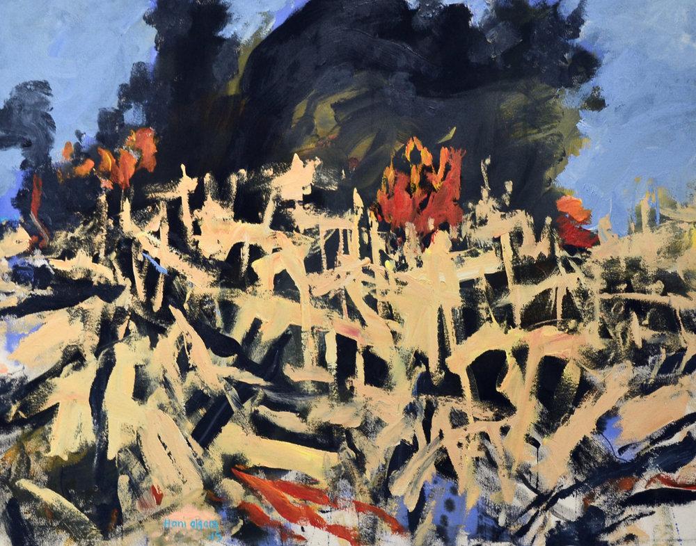 XOL Gallery - Hani Alqam (Jordan) - _Arab Spring III_ - 48 x 36 in - Acrylic on canvas - Baltimore, MD 2015 - $8,000 .jpg
