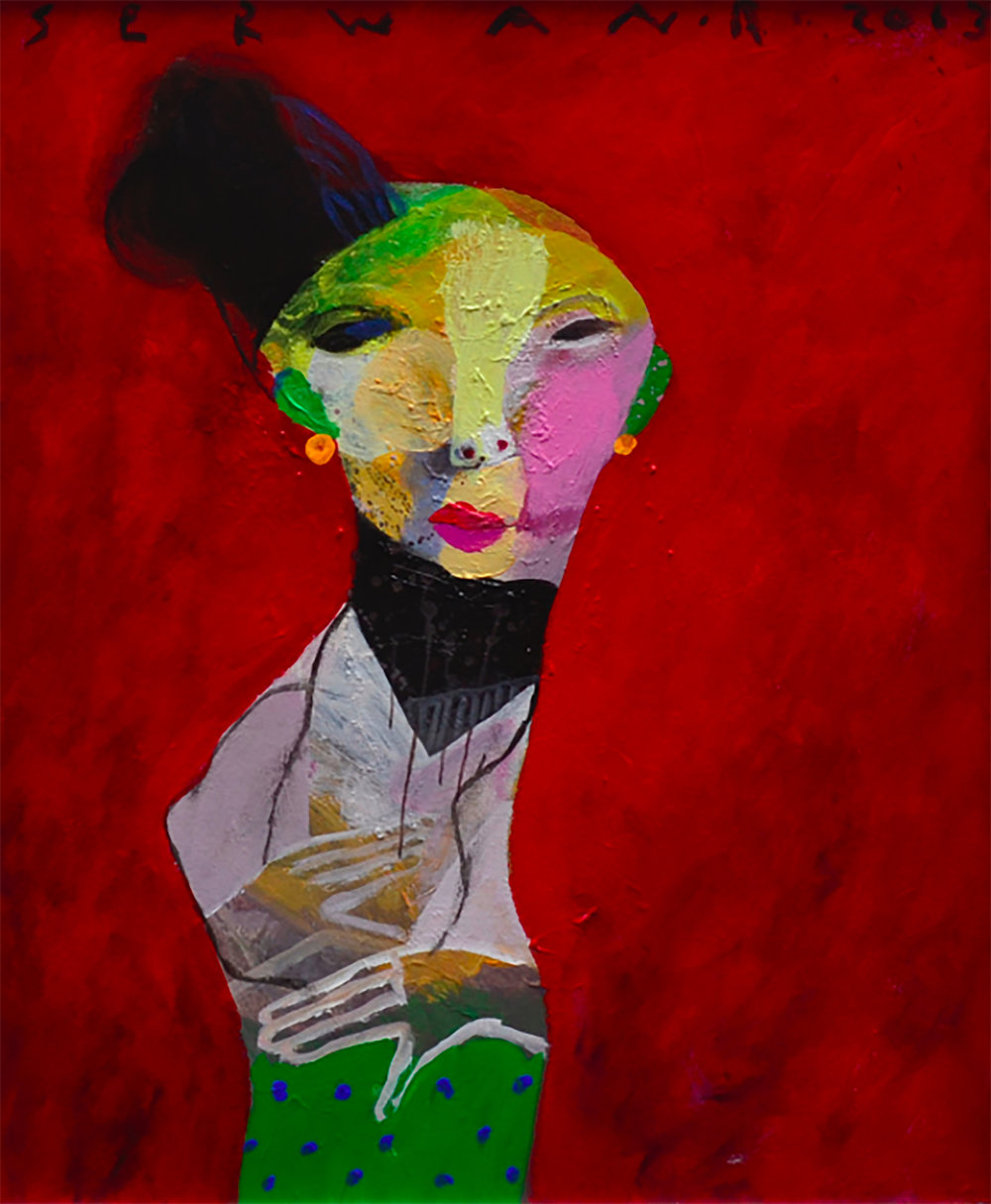 XOL Gallery - Serwan Baran (Iraq) - _Portrait From Iraq I_ - 20 x 24 in - Acrylic on canvas - Amman, 2014 - $6,500.jpg