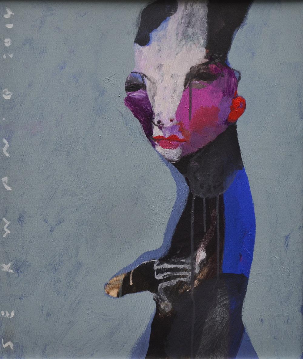 XOL Gallery - Serwan Baran (Iraq) - _Portrait From Iraq II_ - 20 x 24 in - Acrylic on canvas - Amman, 2014 - $6,500.jpg