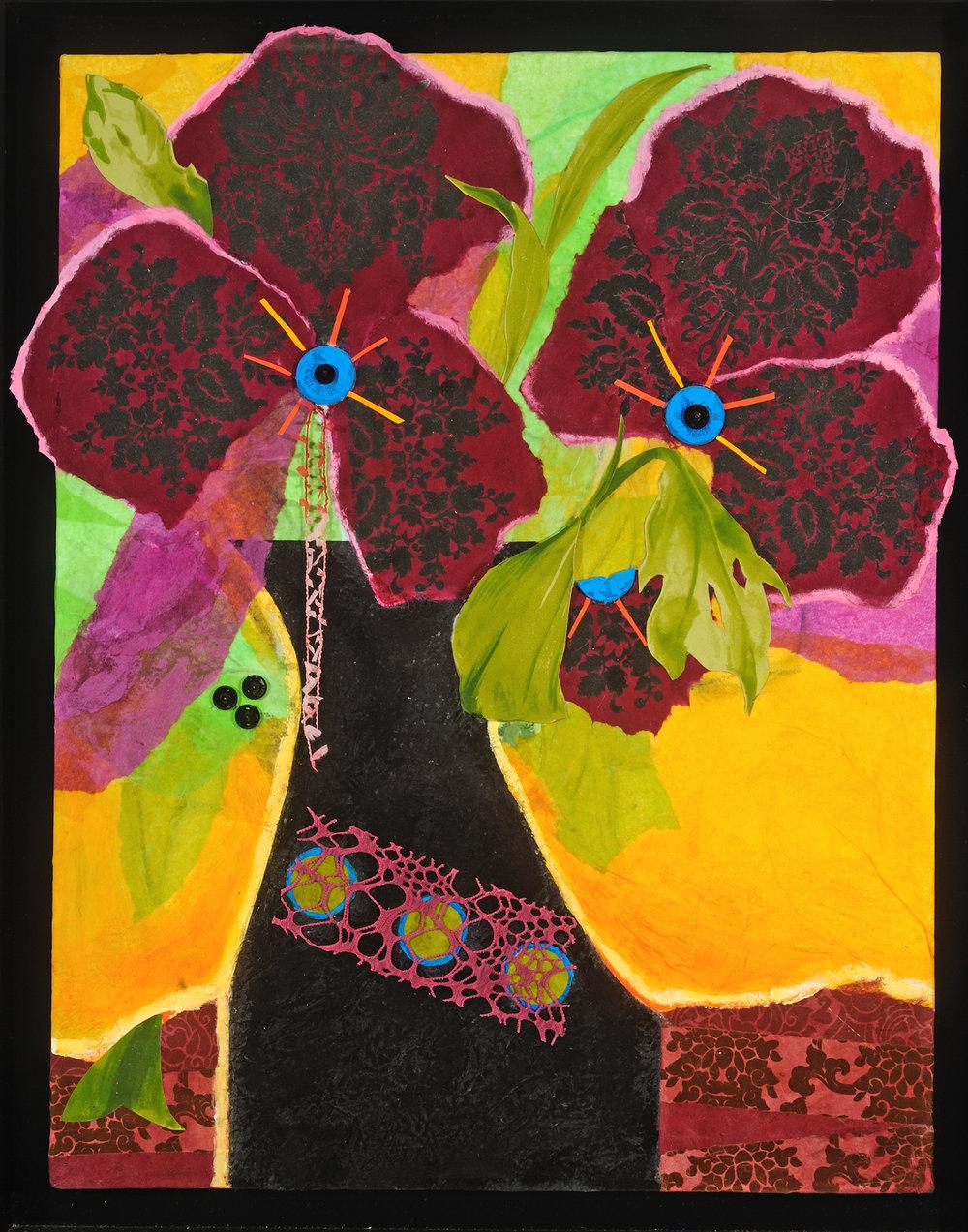 Jill Brantley_Little Black Vase_2015_Mixed media collage_20_ x 16__$450.jpg