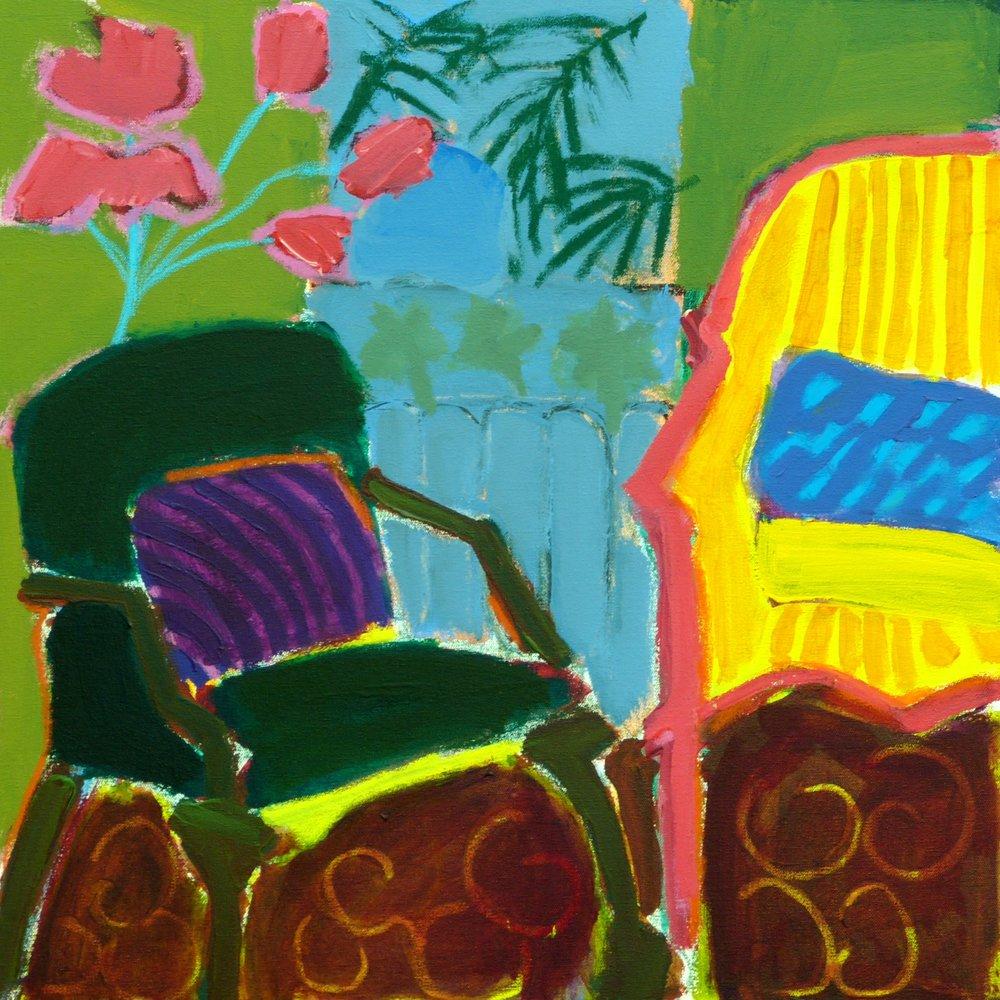 Linda Bankerd_Two Chairs_2016_Acrylic on canvas_24_ x 24__$490.jpg