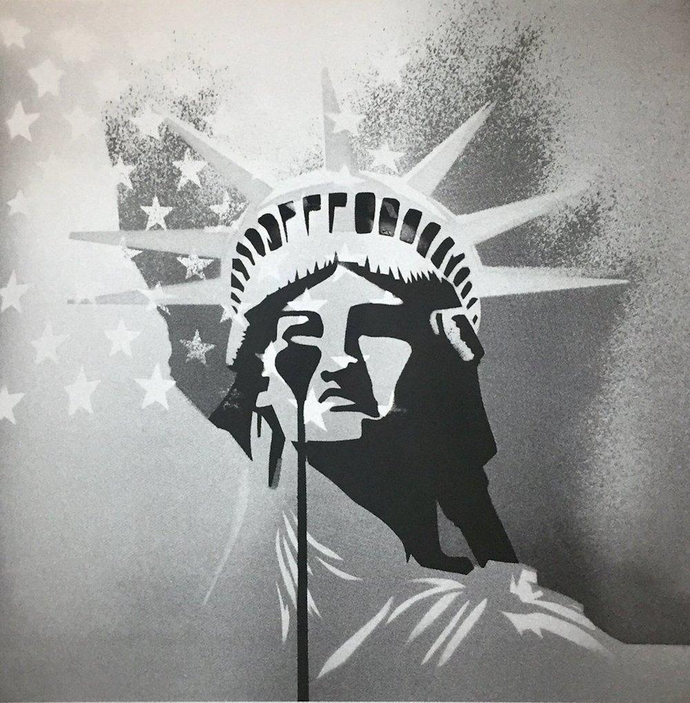Cindy Lisica Gallery - Charles Uzzell Edwards AKA PURE EVIL - _Amerika_ - 19.5 x 19.5 inches - silkscreen print - edition of 30 - 2018 - $200.jpg