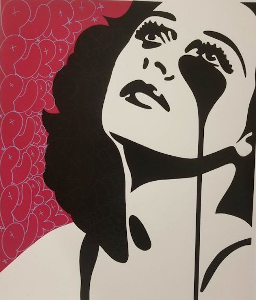 Cindy Lisica Gallery - Charles Uzzell Edwards AKA PURE EVIL - _Hedy Lamarr - Watch the Stars_ - 33.5 x 27.5 inches - handfinished unique silkscreen print - 1_1 - 2018 - $800.jpg