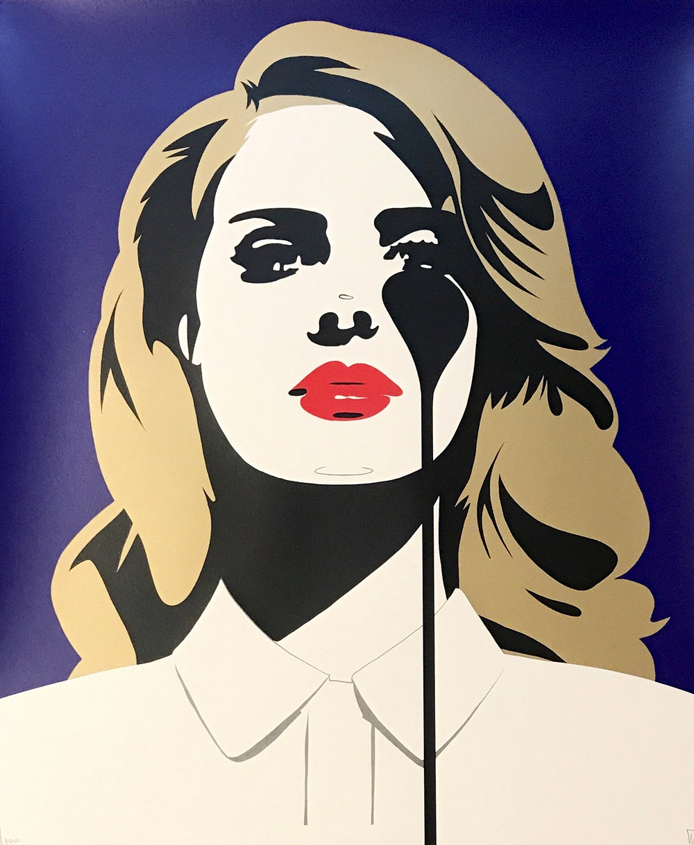 Cindy Lisica Gallery - Charles Uzzell Edwards AKA PURE EVIL - _Lana Del Rey - American Icon_ - 33.5 x 27.5 inches - silkscreen print - edition of 100 - 2018 - $400.jpg