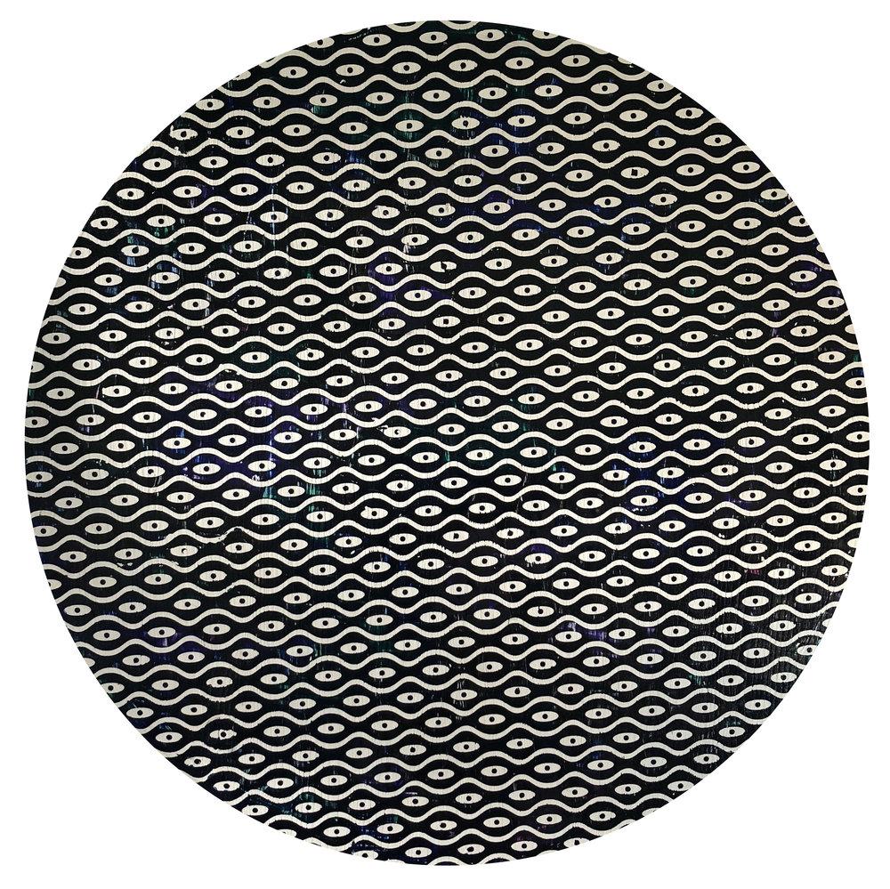 The Eyes Never Lie - 24in diameter - acrylic on wood panel - 900.jpg