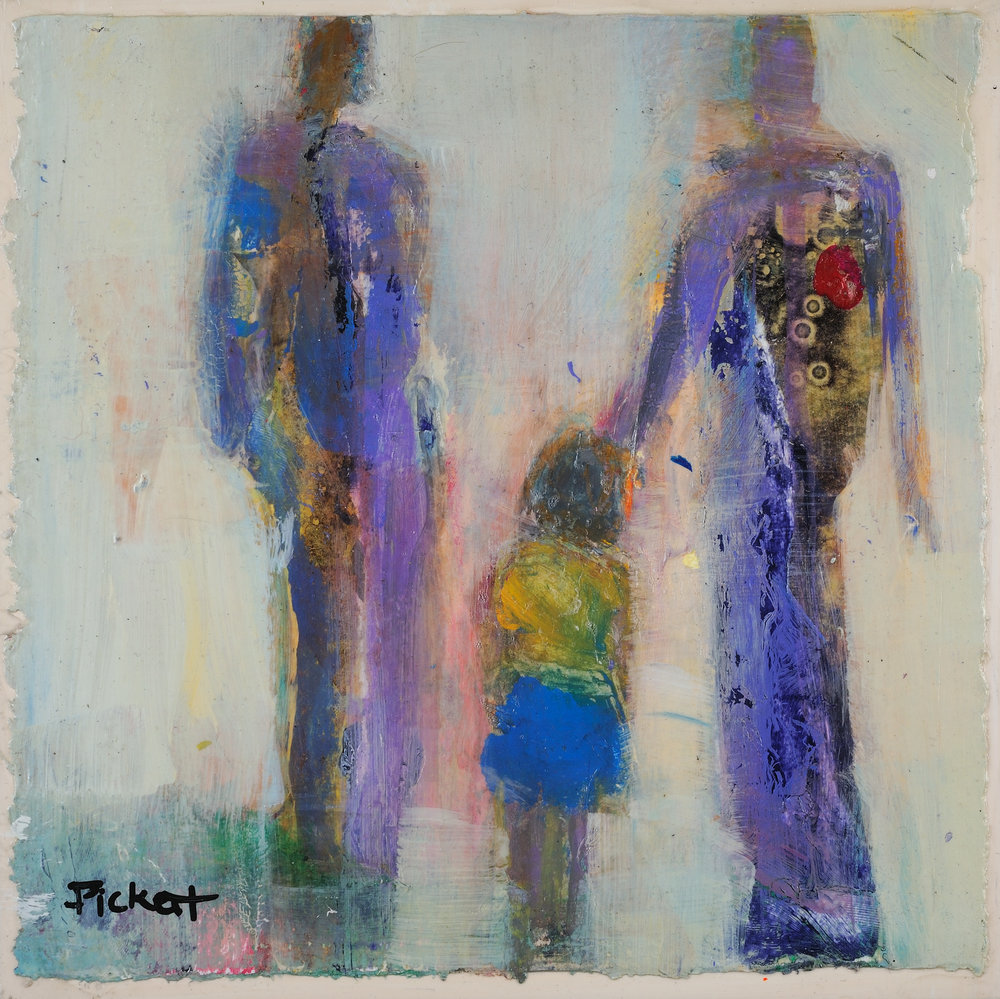 Foundry Gallery-Ann Pickett-Sunday Strollers-8x8-Acrylic with collage-2017-$200.jpg