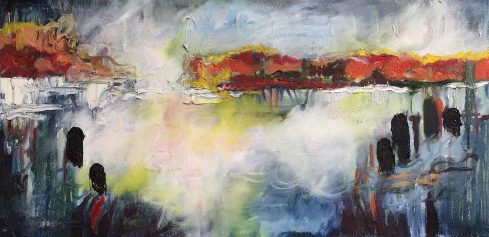 Foundry Gallery-Barbara Pliskin-Dusk-Oil on canvas-18x36-2017-$800.jpg