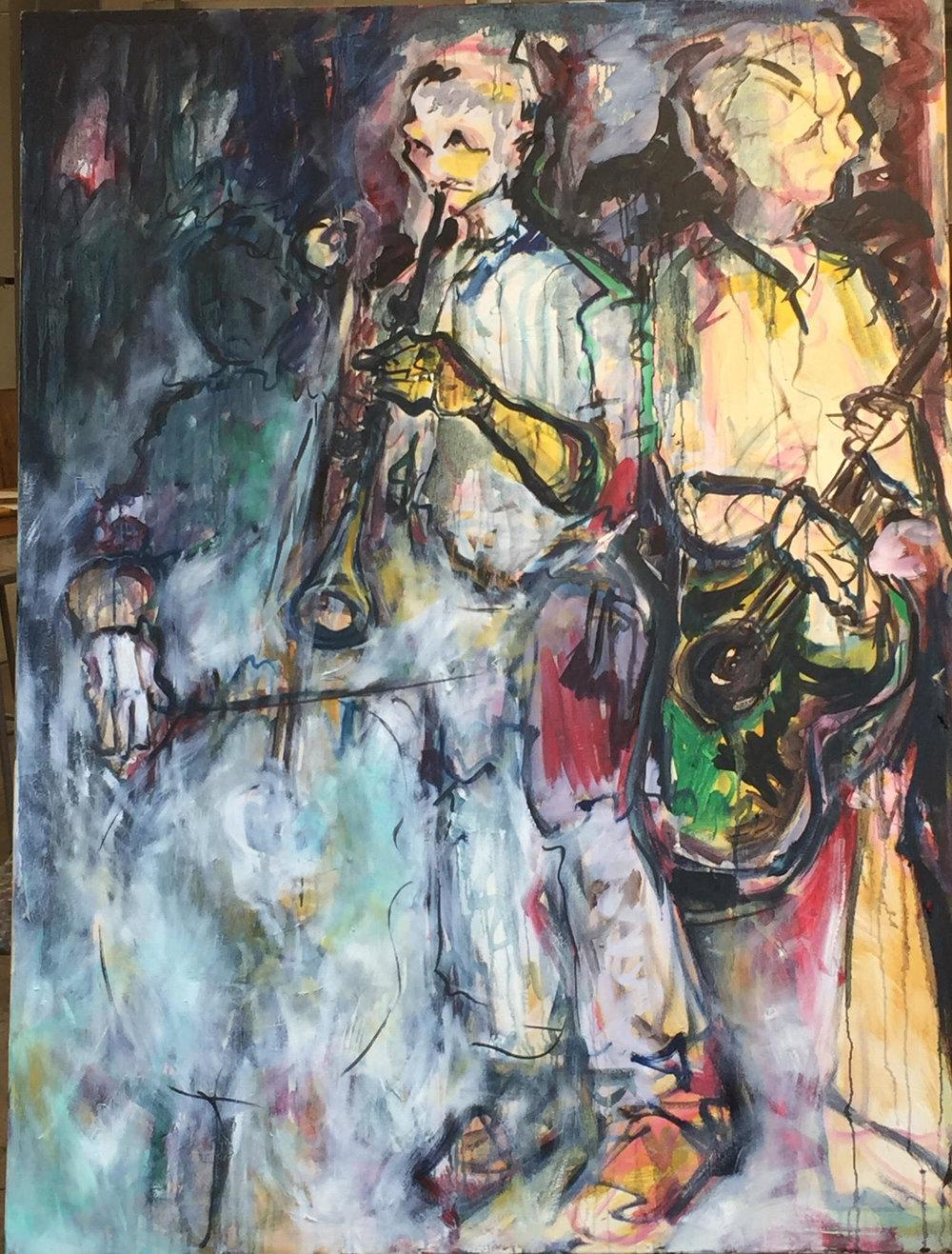 Foundry Gallery-Barbara Pliskin-The Group-48x36-Oil on canvas-2018-$2500.jpg