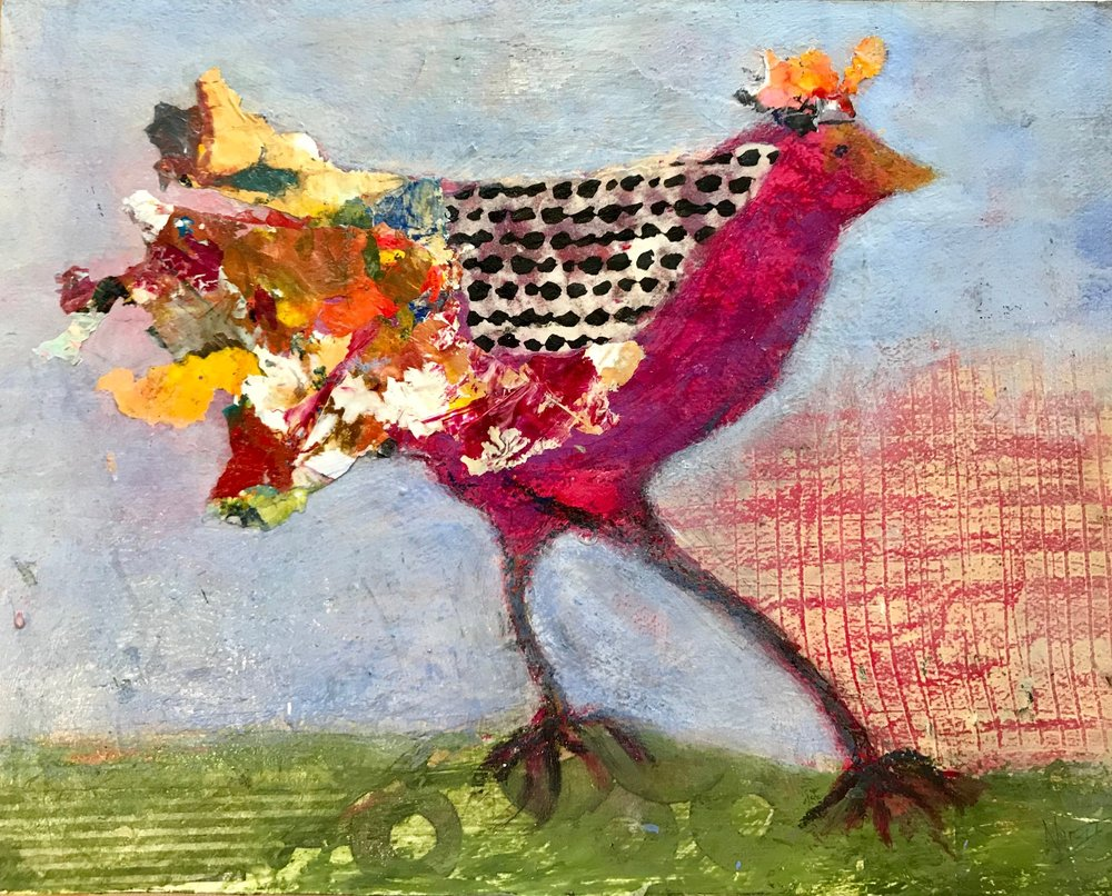 Foundry Gallery-Charlene Nield-Crowned Prince Strider11x14-Acrylic with mixed media-2018-$325.jpg