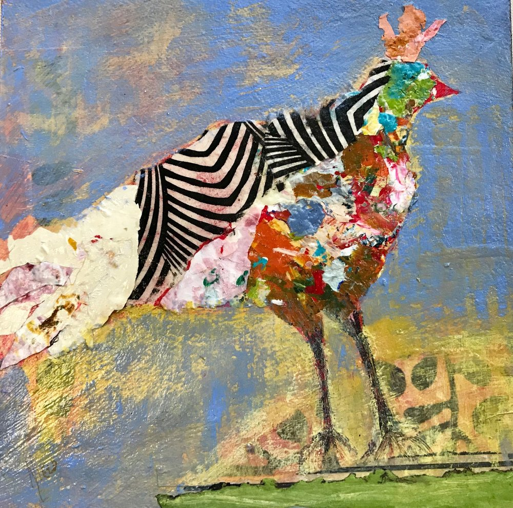 Foundry Gallery-Charlene Nield-Queen Quackle-12x12-Acrylic with mixed media-2018-$325.jpg