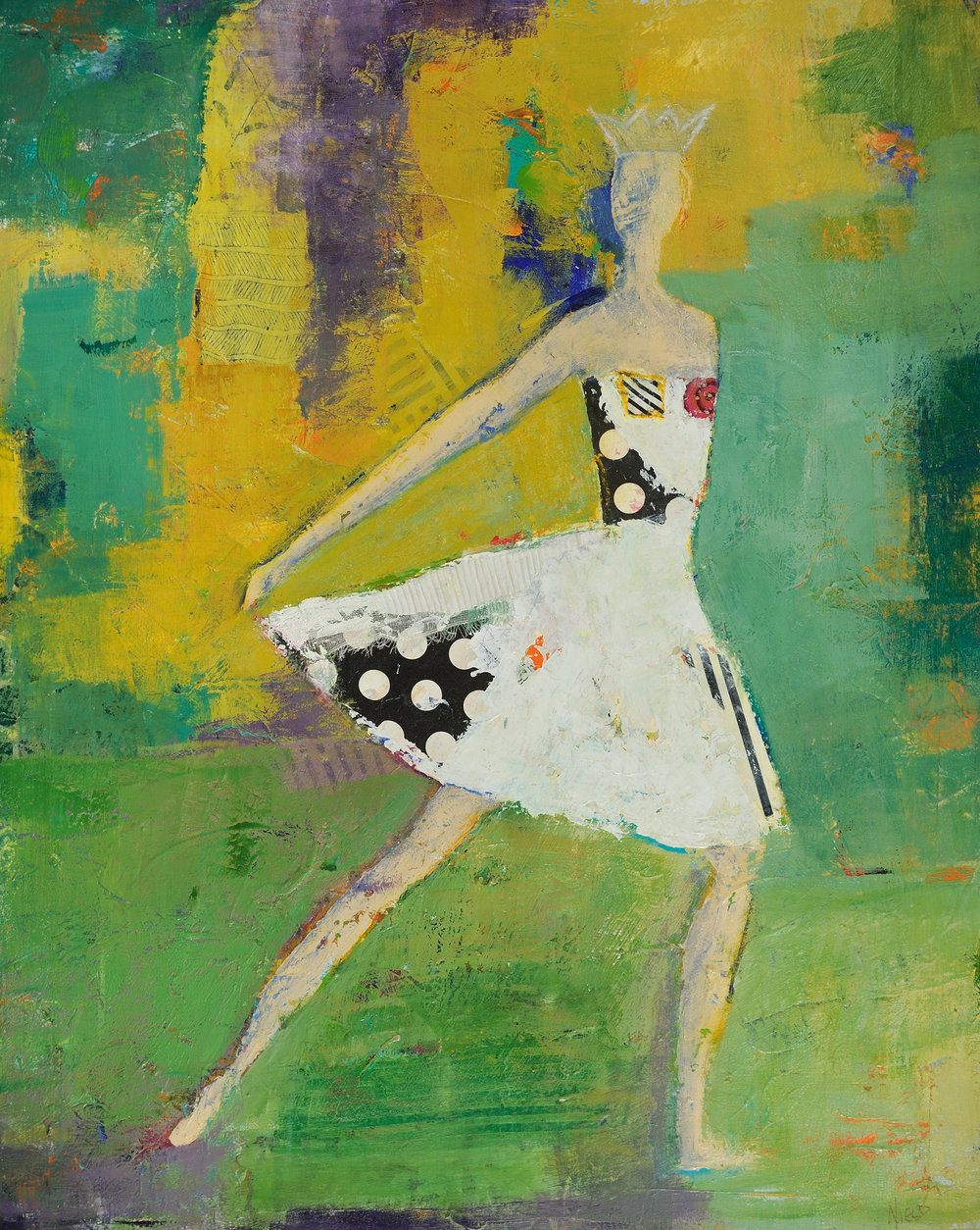 Foundry Gallery-Charlene Nield-Royal Ballet-30x22-acrylic with mixed media on panel=2018-$1,200.jpg